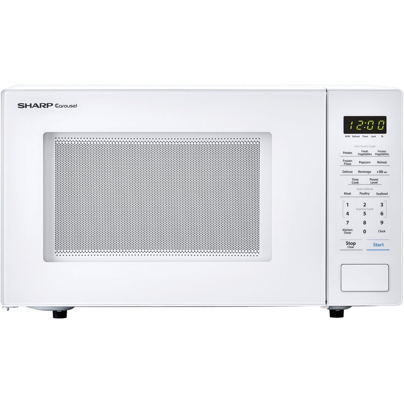 "Sharp Carousel 20"" 1.1 cu.ft. Countertop Microwave  Color: White"