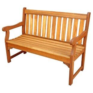 Exceptional Cadsden Hardwood Garden Bench