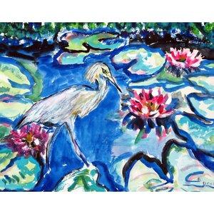 Heron and Waterlilies Doormat