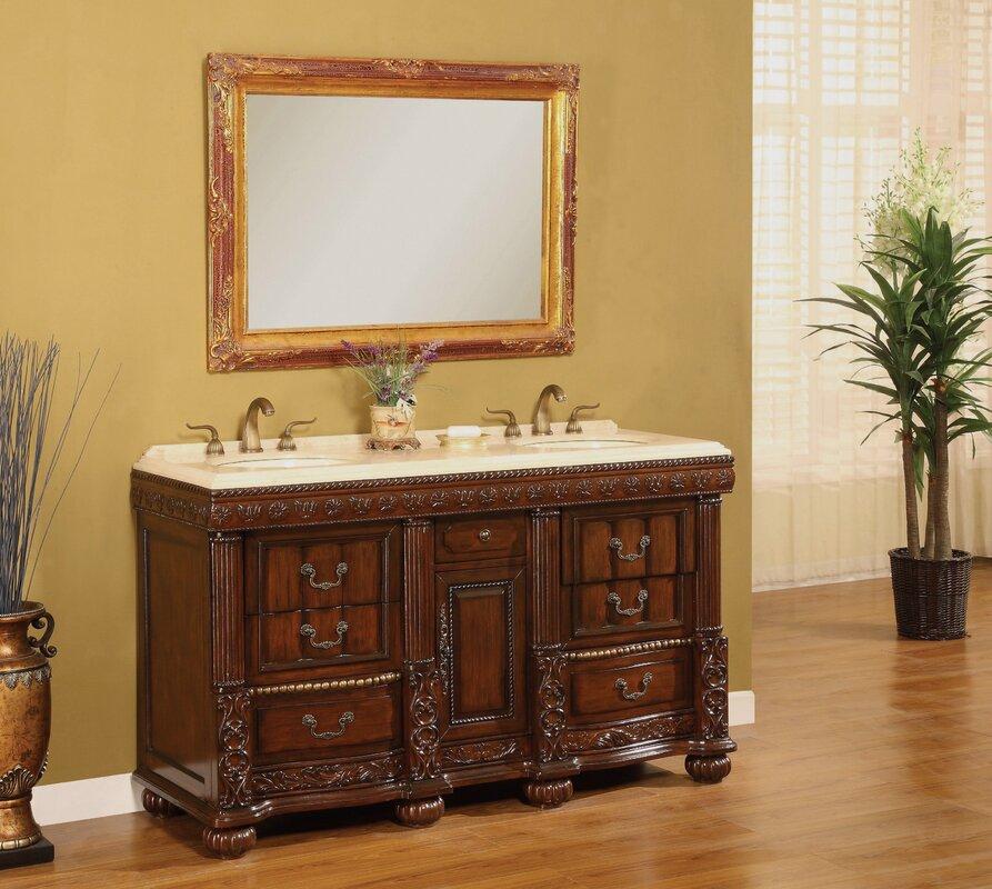 B I Direct Imports Kent 60 Double Bathroom Vanity Set