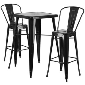 Suruga 3 Piece Pub Table Set by Mercury Row