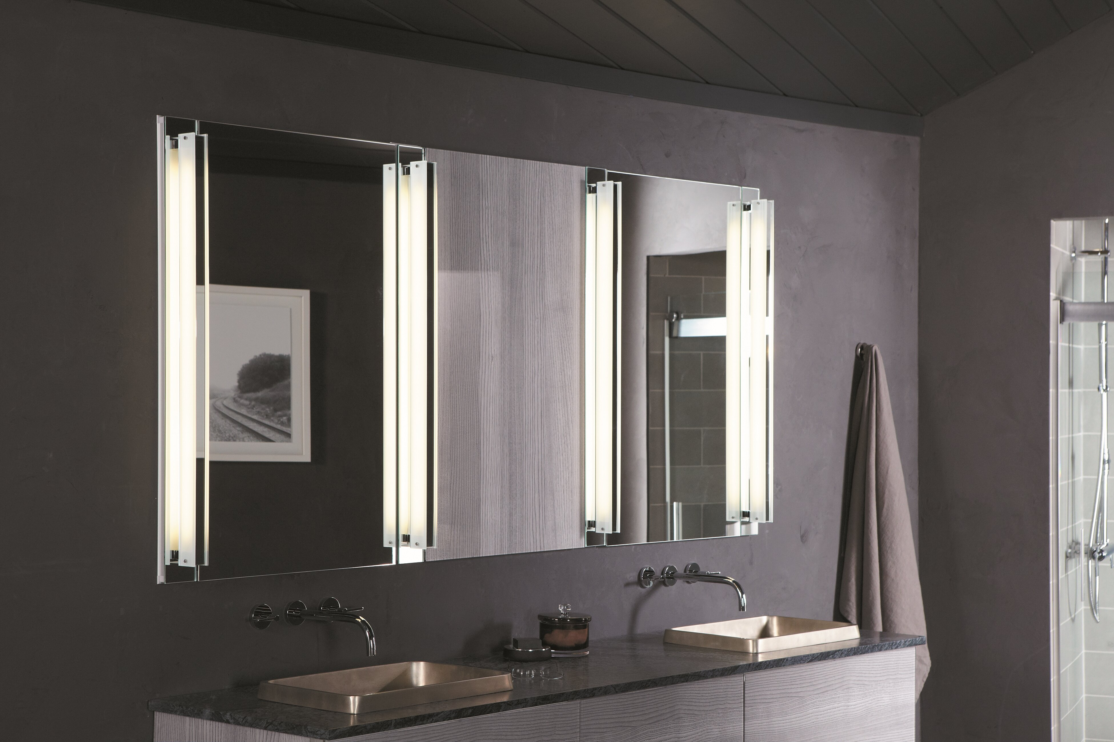 mount inch mountrecessed cabinet no recessed eviva wall lights with all a lazy bathroom product mirror medicine