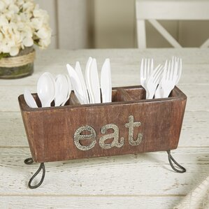 cafe eat flatware caddy