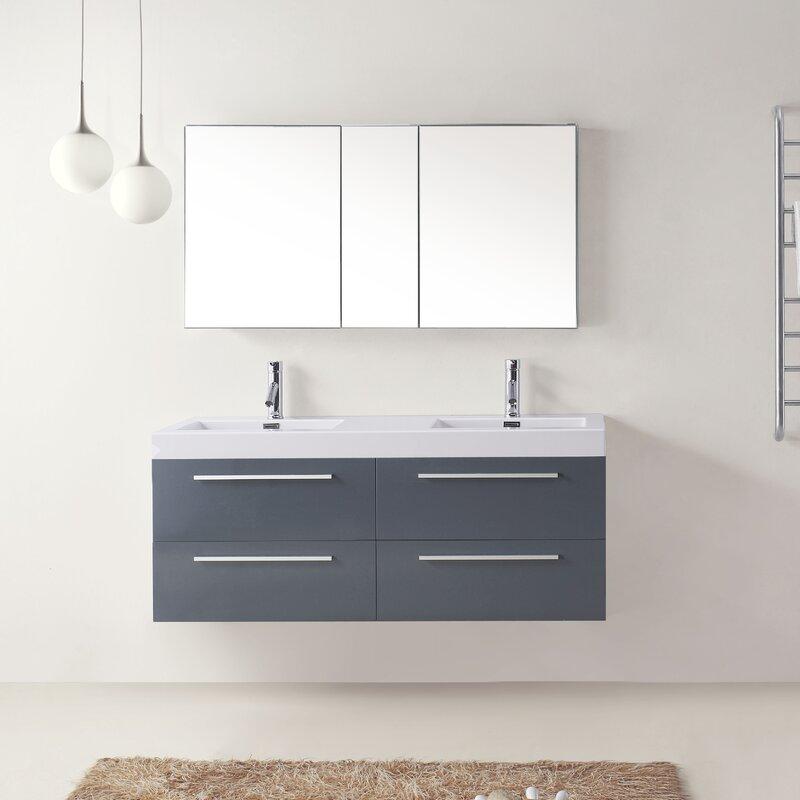 double bathroom vanity set. Cartagena 54  Double Bathroom Vanity Set With White Top Reviews