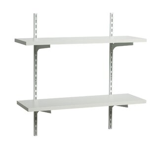 white shelf with brackets wayfair rh wayfair com metal bracket for wood shelves metal bracket for shelves