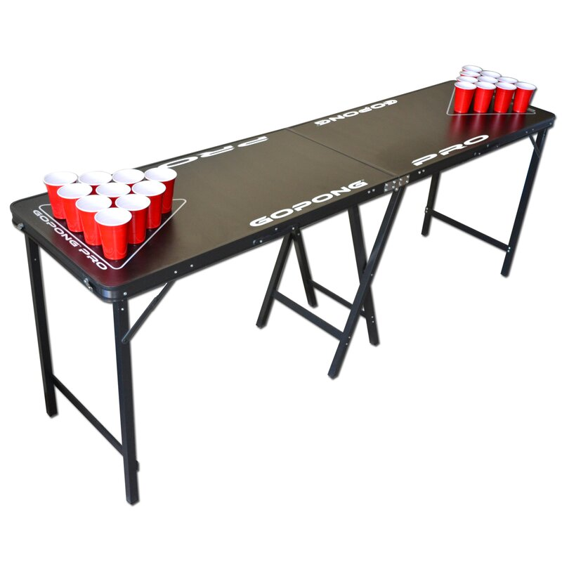 gopong pro 8 premium beer pong table for bars reviews wayfair rh wayfair com beer pong tables online beer pong tables for pools