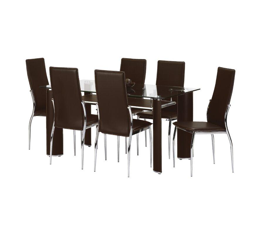 all home essgruppe portland mit 6 st hlen bewertungen. Black Bedroom Furniture Sets. Home Design Ideas
