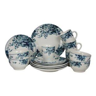 Rose 16 Piece Dinnerware Set Service for 4  sc 1 st  Wayfair & Rose Pattern Dinnerware   Wayfair