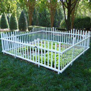 Pet Or Garden Vinyl Enclosure Picket Fence With Gate