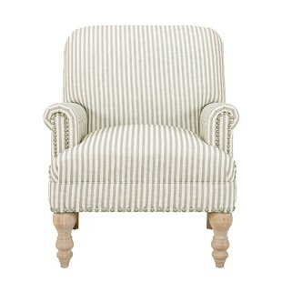 Striped Accent Armchair