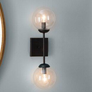 Mid century modern sconces youll love wayfair berton 2 light up downlight greentooth Images