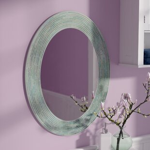 44e35407f070 Congo Reeded Glass Oval Accent Wall Mirror