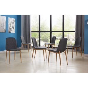juston skin upholstered dining chair set of 6