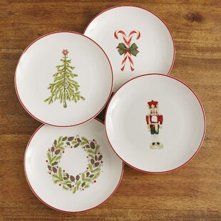 Christmas Plates (Set of 4) & Vintage Christmas Plates | Wayfair