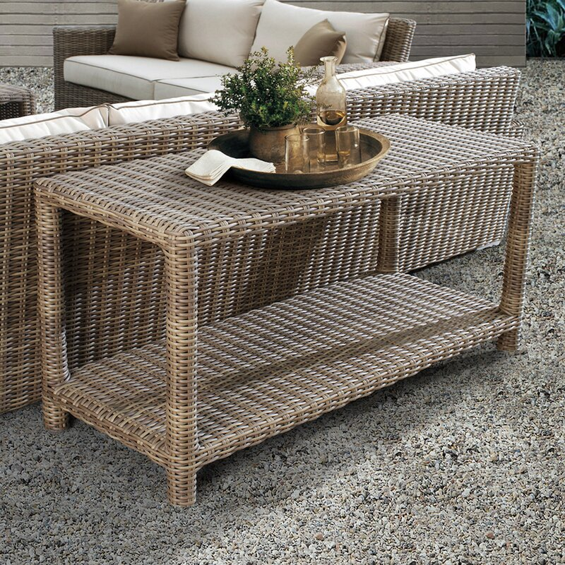 Wicker Rattan Buffet Console Table