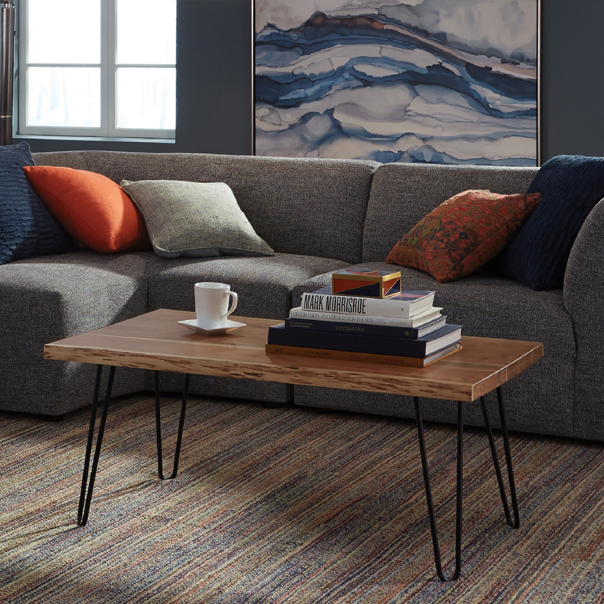 Tindle Live Edge Hairpin Coffee Table