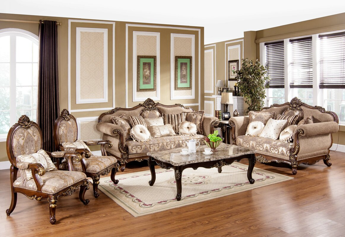 Astoria grand peabody 2 piece living room set reviews for Living room 5 piece sets