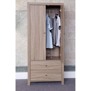 Astaire Commodious 2 Drawer Wardrobe Armoire by Alcott Hill