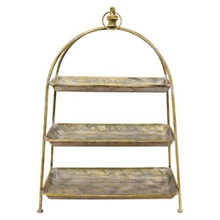 3 Tier Floor Stand Metal Basket