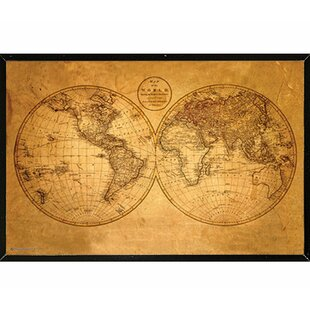 Old world map wall art wayfair old world map framed graphic art print poster gumiabroncs Gallery