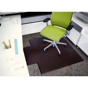 executive bamboo office chair mat