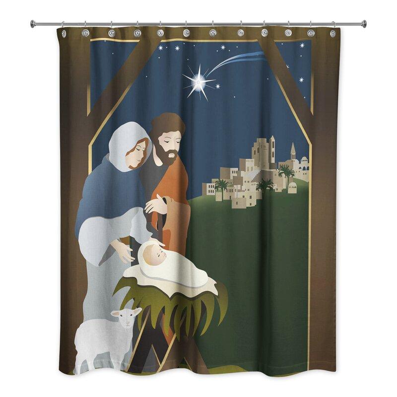 Grange Nativity Shower Curtain