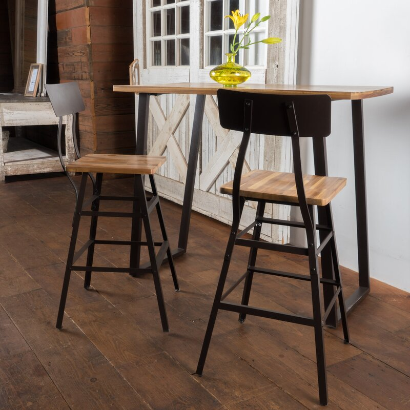 Awesome Islemade 3 Piece Bar Table Set
