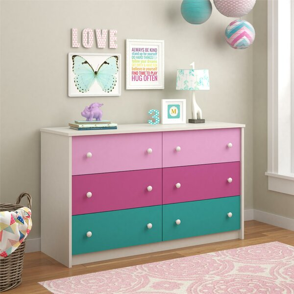 Zoomie Kids Nola 6 Drawer Double Dresser Amp Reviews Wayfair