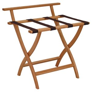 Wall Saver Contour Leg Luggage Rack with Backing
