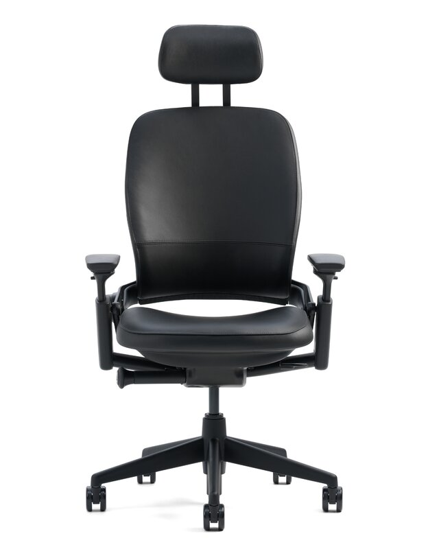 Lovely Leap® High Back Leather Desk Chair