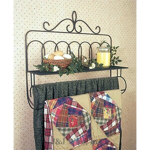 Victorian Quilt Rack with Shelf by J & J Wire