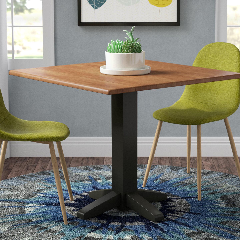 Latitude run runkle square dual drop leaf 36 extentable dining table reviews wayfair