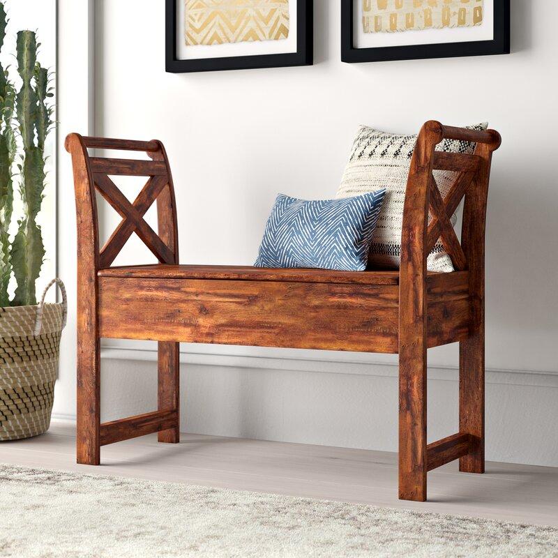 Mistana Kylan Wood Storage Bench Amp Reviews Wayfair Ca