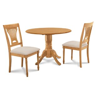 Chesterton 3 Piece Oak Solid Wood Dining Set