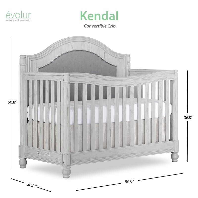 Evolur Kendal Curve Top 5 In 1 Convertible Crib Wayfair