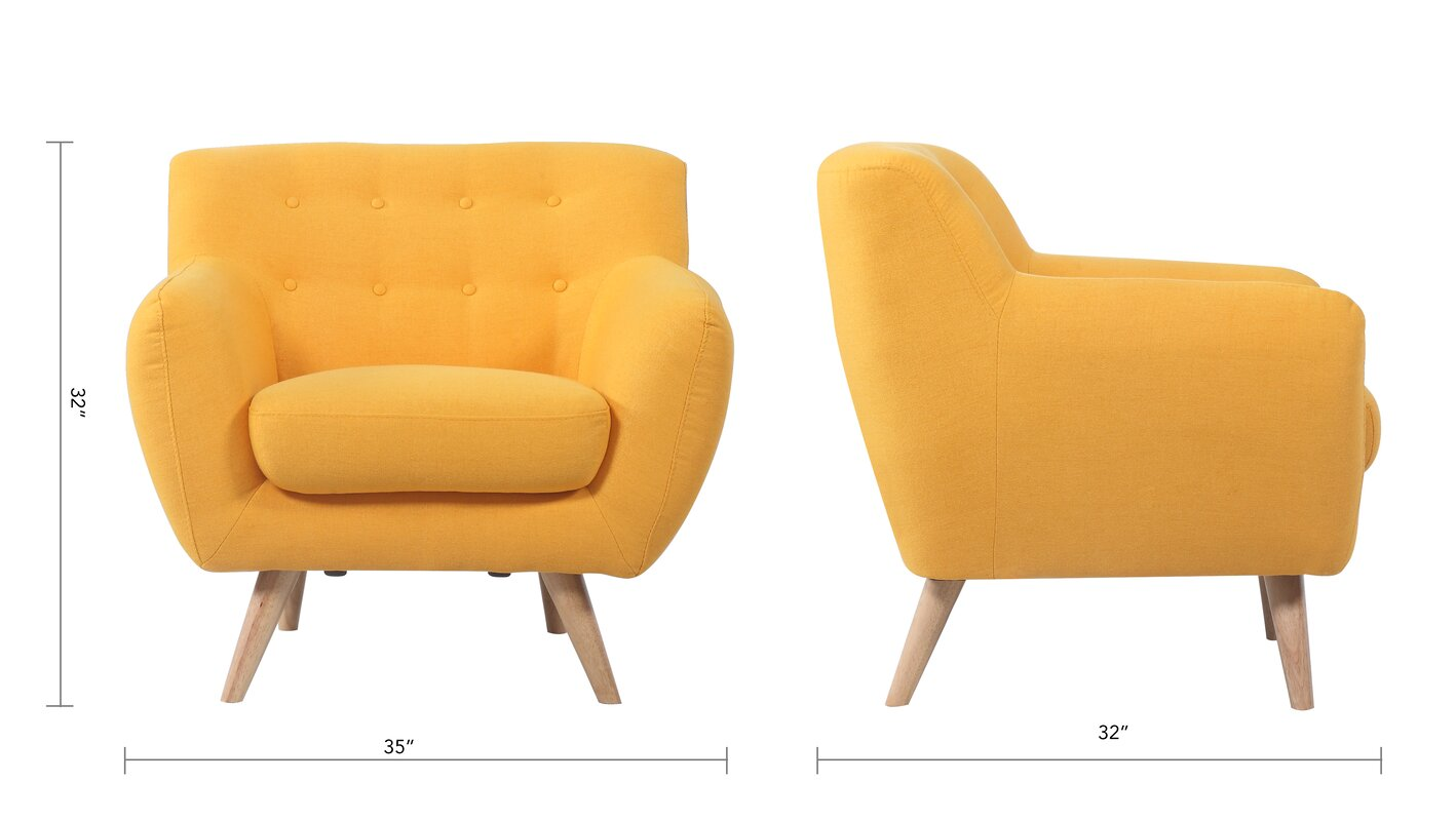 Madison Home USA Mid-Century Modern Tufted Armchair & Reviews ...