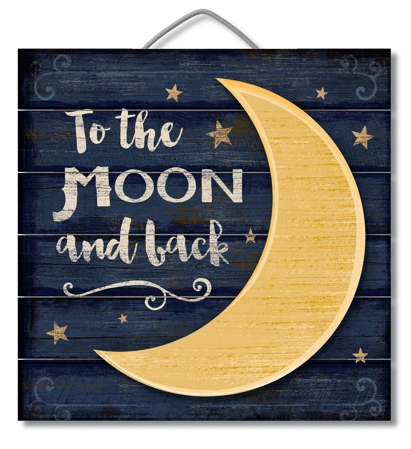 Harriet Bee 3D Accent Piece Moon and Back Slatted Pallet Wood Sign ...