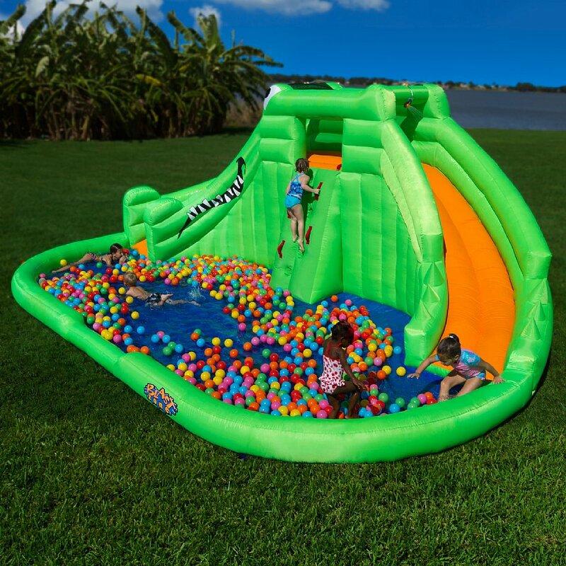 blast zone crocodile isle water slide reviews wayfair
