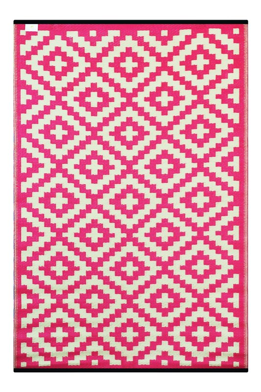 Riley Ave Kenji Pink Outdoor Area Rug Amp Reviews Wayfair