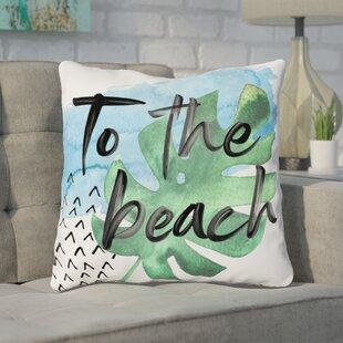 Tuers To The Beach Throw Pillow