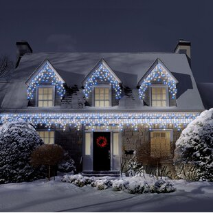 700 Warm White Cool Outdoor Icicle Led Christmas Fairy Light