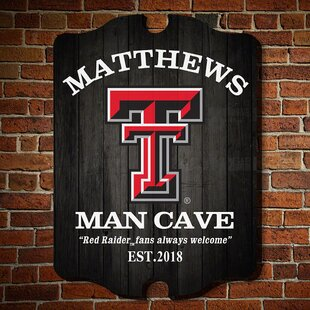 Wonderful NCAA Man Cave Sign Wall Décor