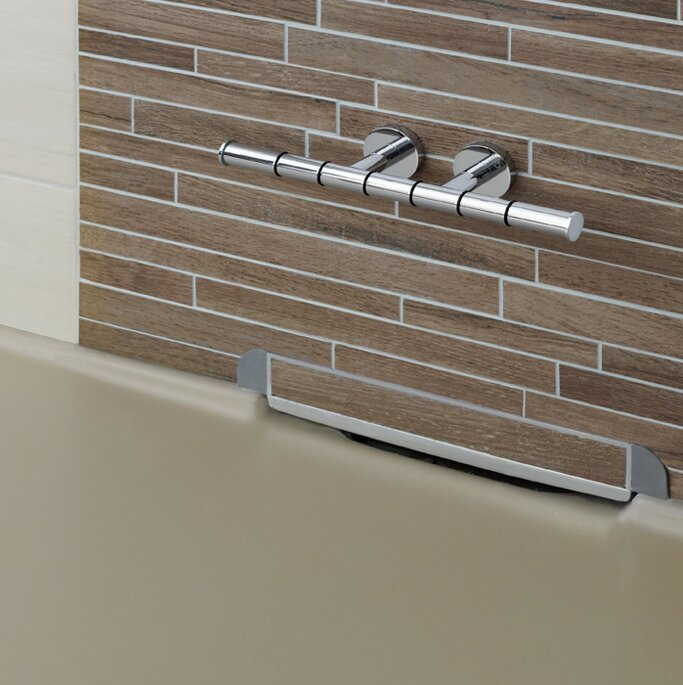 Wall Mount Double Post Shower Foot Rest