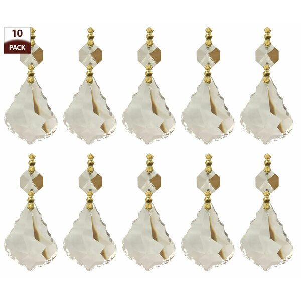 Royaldesigns 10 pack chandelier replacement crystal prisms french royaldesigns 10 pack chandelier replacement crystal prisms french maple leaf clear wayfair aloadofball Image collections