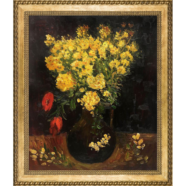 Tori home vase with viscaria poppy flowers by vincent van gogh tori home vase with viscaria poppy flowers by vincent van gogh framed painting print wayfair mightylinksfo
