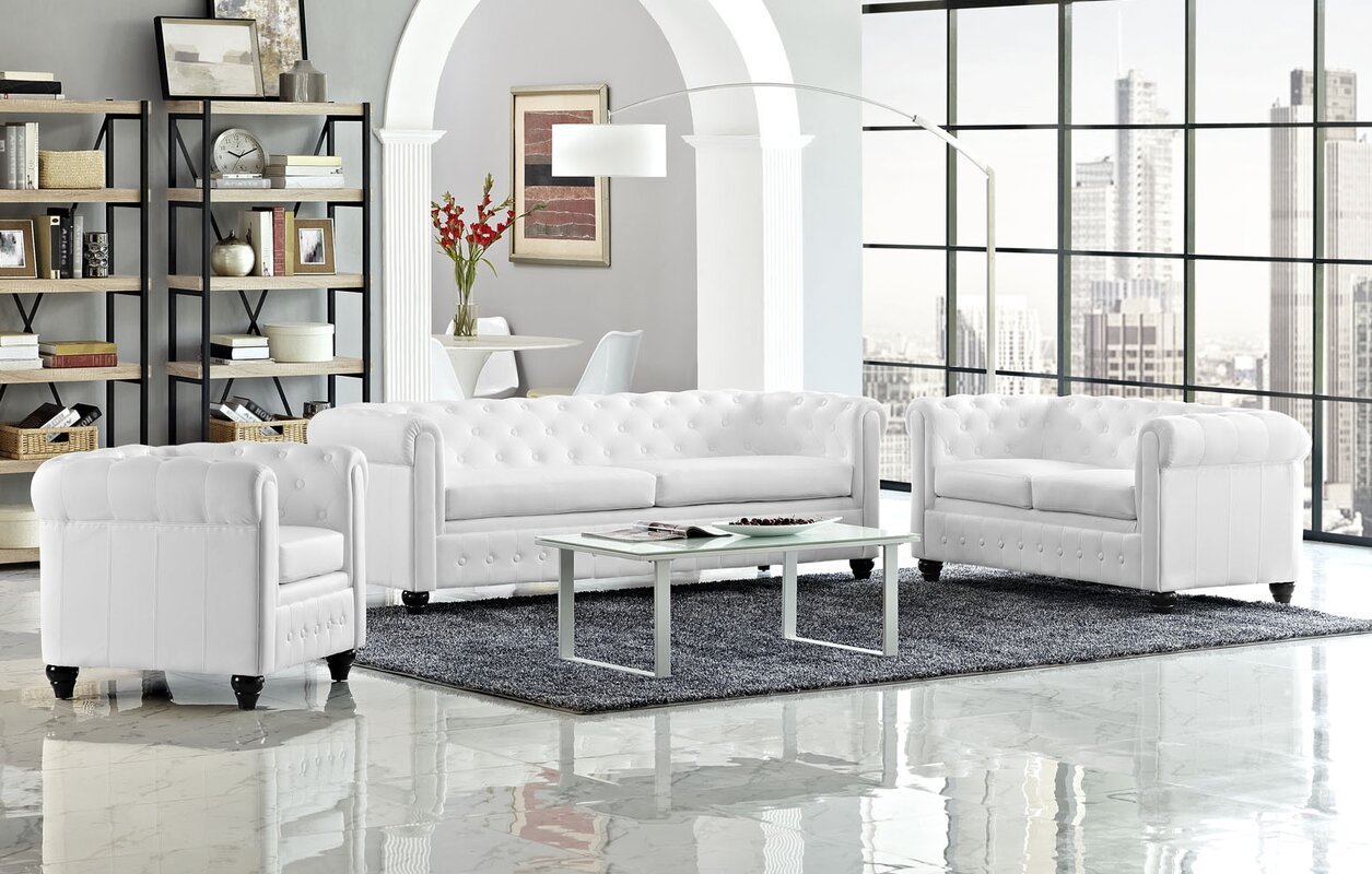 Modway Earl 3 Piece Living Room Set & Reviews | Wayfair