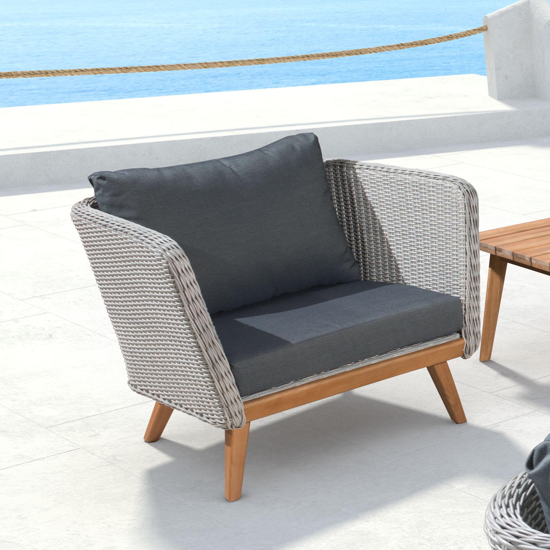 Corrigan Studio Des Moines Arm Chair with Cushion & Reviews