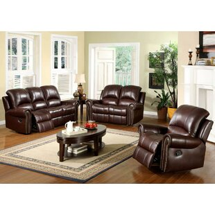 Sedona Reclining 3 Piece Leather Living Room Set