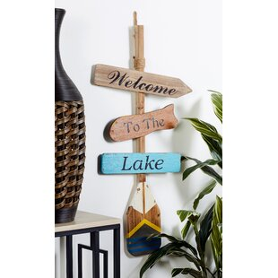Welcome To The Lake Wall Decor