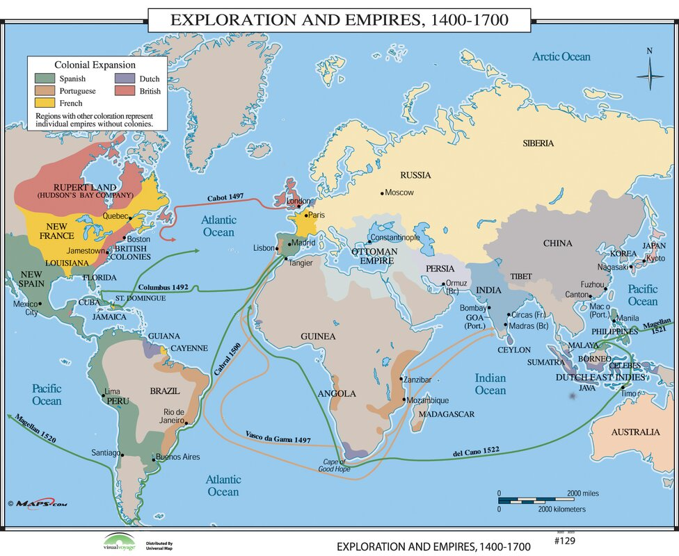 Universal Map World History Wall Maps Exploration Empires - Wall maps of the world